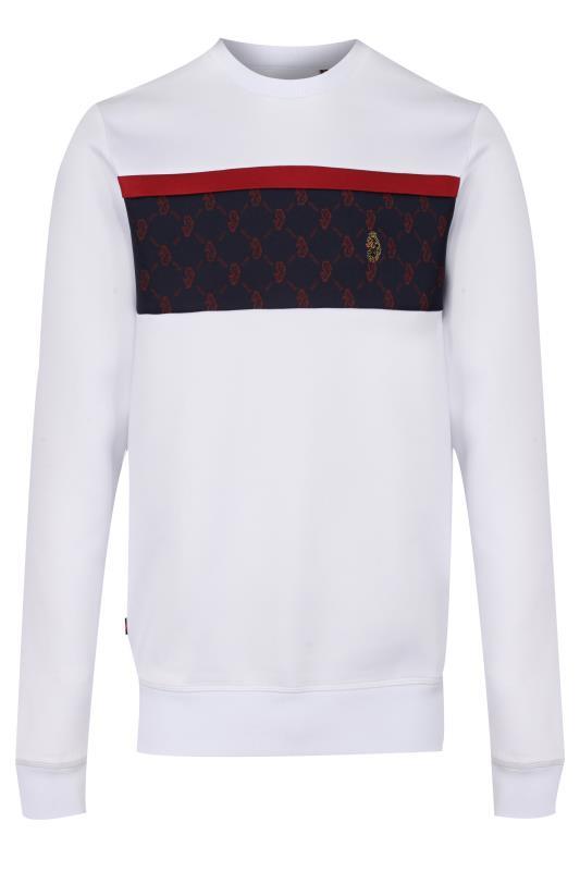 Plus Size  LUKE 1977 White Lion Printed Sweatshirt