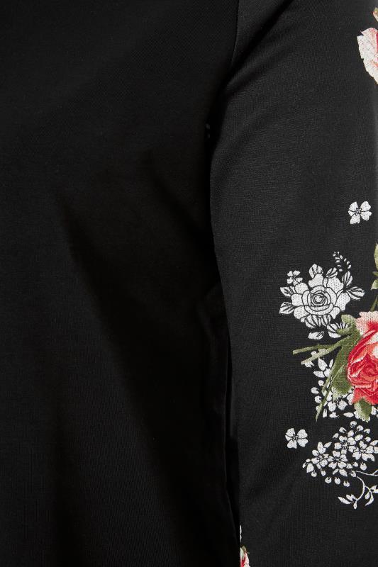 Black Floral Sleeve Hoodie_S.jpg