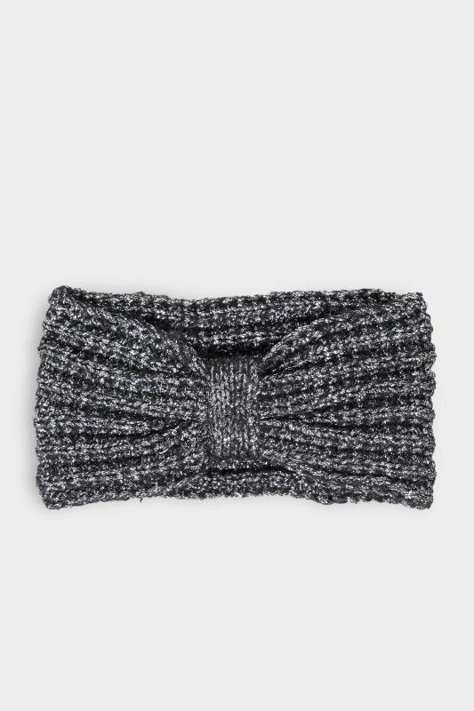 Black Metallic Knot Knitted Headband_F.jpg