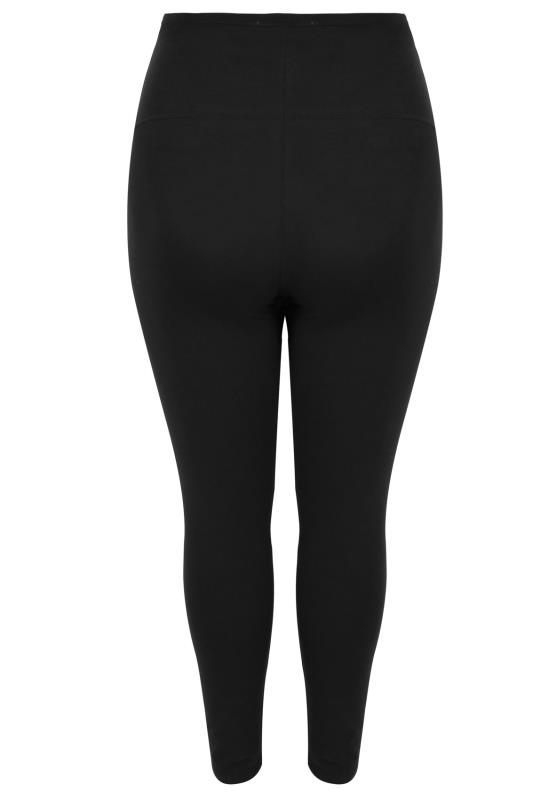BUMP IT UP MATERNITY 2 Pack Black Essential Leggings With Comfort Panel_BK.jpg