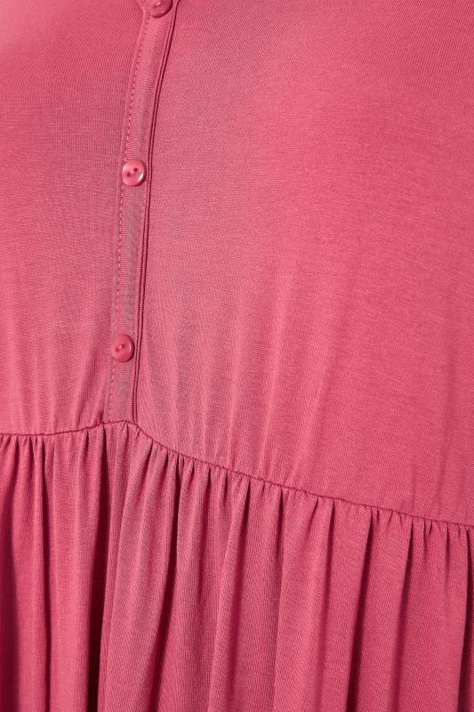 LIMITED COLLECTION Pink Button Midaxi Dress_S.jpg