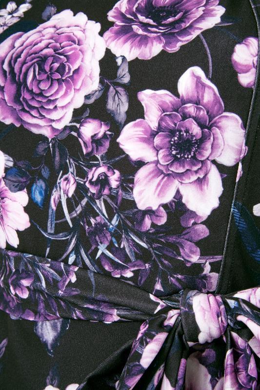 YOURS LONDON Black Floral Milkmaid Skater Dress_S.jpg