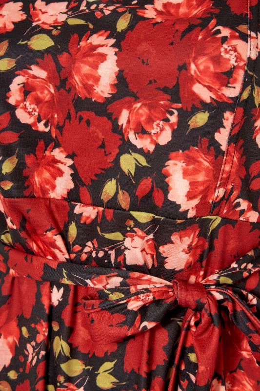 YOURS LONDON Black Floral Print Tie Waist Peplum Top_S.jpg