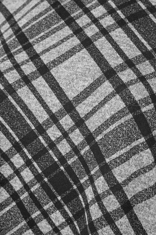 Grey Check Print Oversized Top_S.jpg
