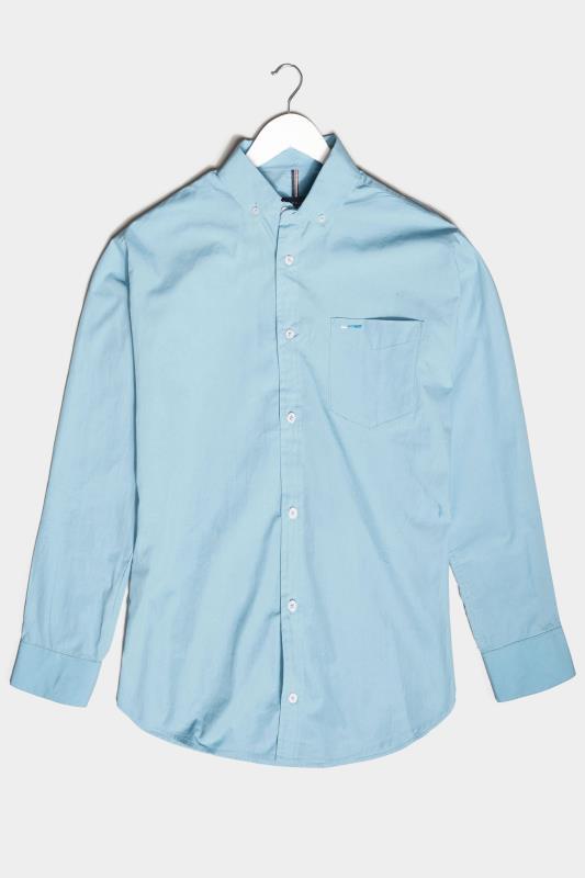 Men's  BadRhino Light Blue Essential Long Sleeve Oxford Shirt