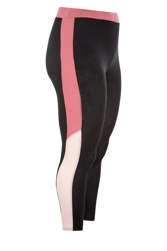LIMITED COLLECTION Black & Pink Colour Block Leggings_SS.jpg