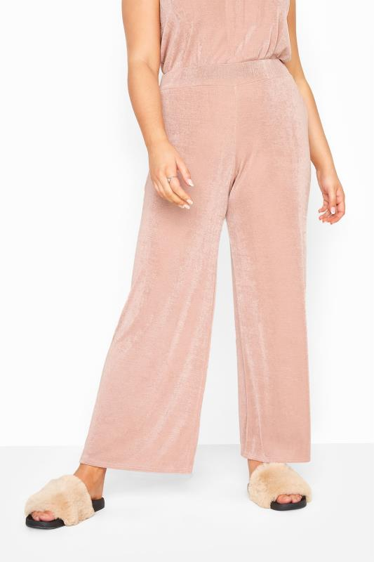YOURS LONDON Nude Slinky Co-ord Wide Leg Trousers