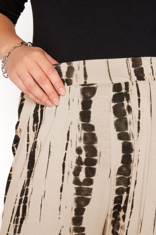 Natural Linear Tie Dye Cuffed Harem Trousers_D.jpg