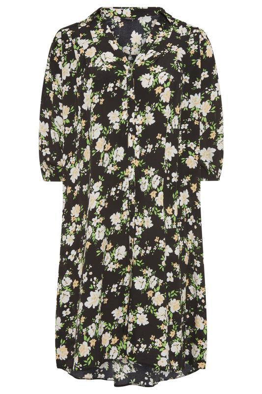 THE LIMITED EDIT Black Floral Pleated Dress_F.jpg