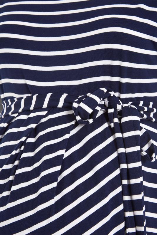 BUMP IT UP MATERNITY Navy Stripe Tie Waist Wrap Dress_S.jpg