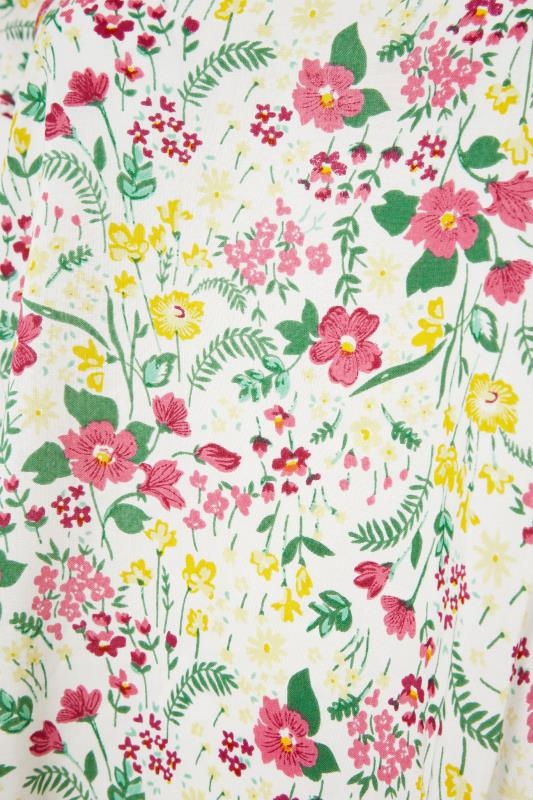 White Floral Dipped Hem Blouse_S.jpg