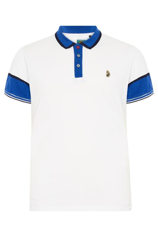 Plus Size  LUKE 1977 White Boyo Polo Shirt