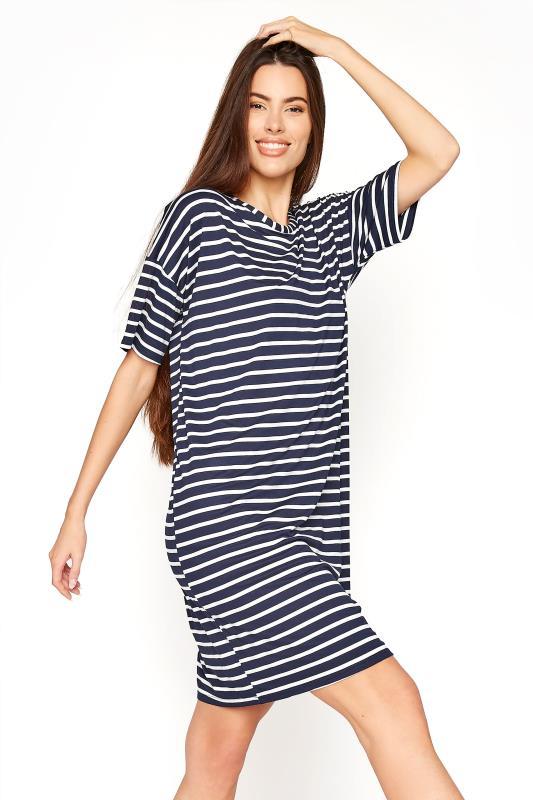 LTS Navy Stripe T-Shirt Dress