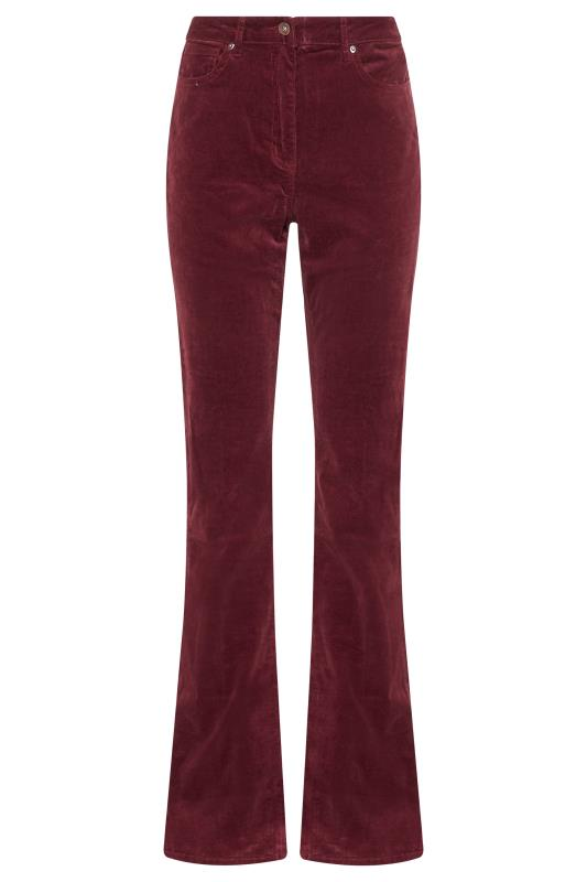 Burgundy Cord Bootcut Trousers