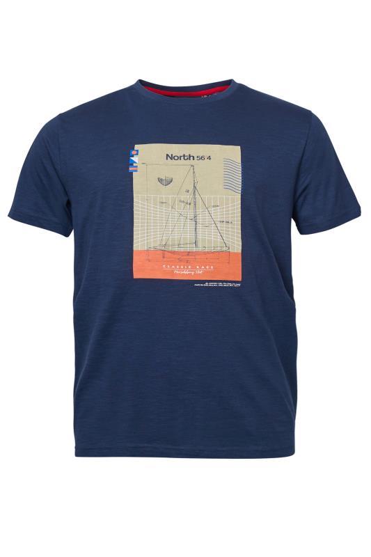 Men's  NORTH 56°4 Navy Chest Print T-Shirt