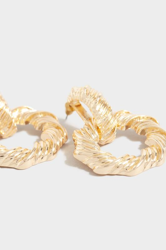 Gold Twisted Textured Door Knocker Earrings_D.jpg