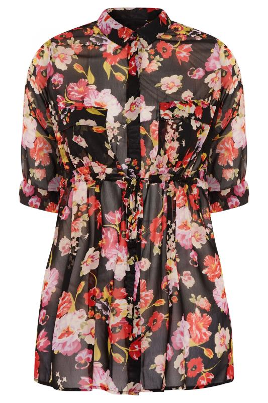 Black Floral Tie Waist Shirt_F.jpg