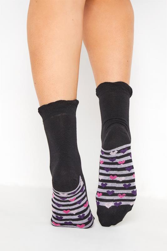 Großen Größen  4 PACK Black Stars & Stripes Footbed Ankle Socks
