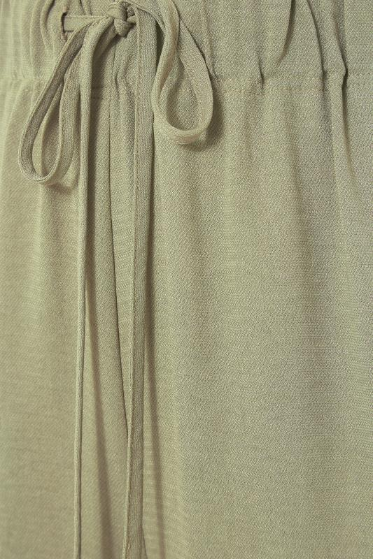THE LIMITED EDIT Olive Green Wide Leg Trousers_S.jpg