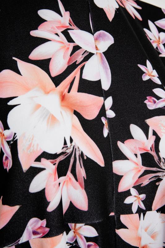 YOURS LONDON Black Floral Wrap Midi Dress_S.jpg