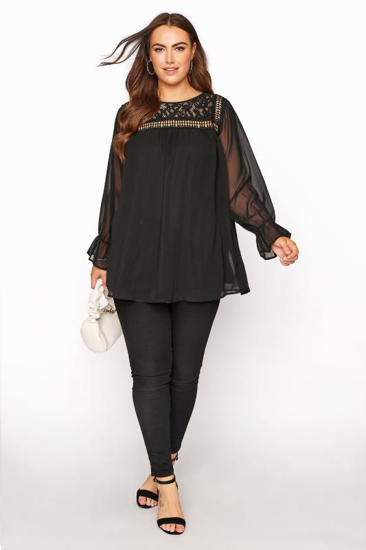 YOURS LONDON Black Lace Blouse_B.jpg