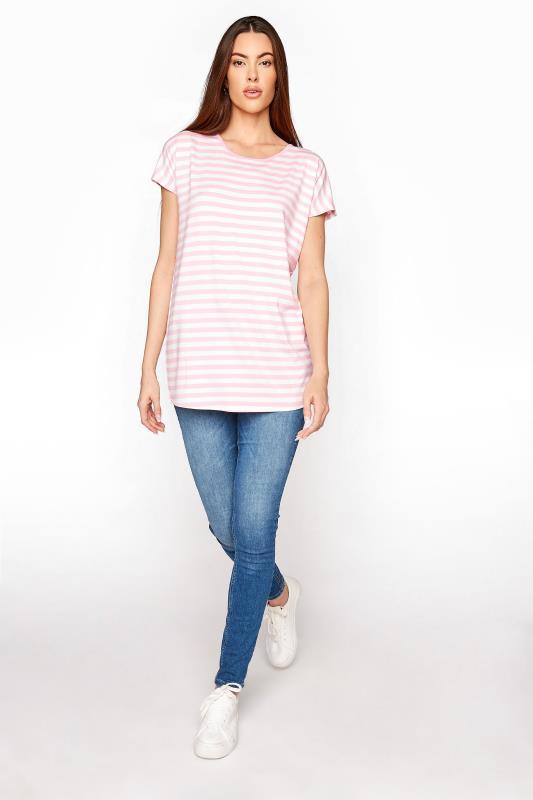 LTS Pink Stripe Soft Touch T-Shirt_B.jpg