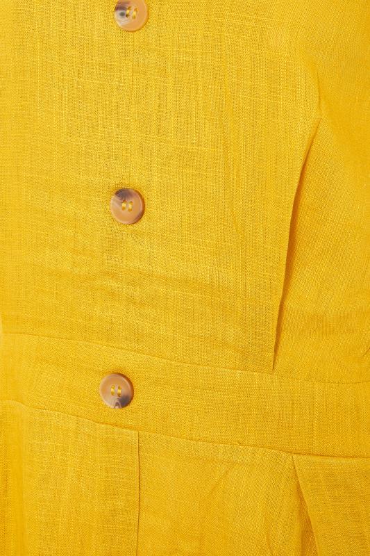 LTS Yellow Linen Blend Button Front Tulip Dress_S.jpg