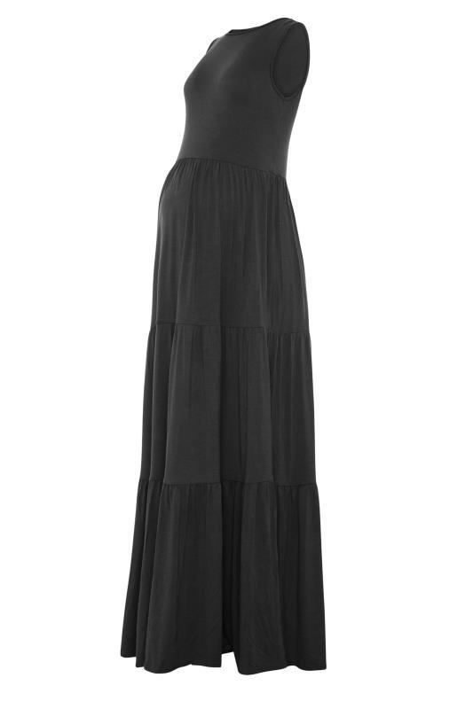 LTS Maternity Black Tiered Maxi Dress_F.jpg