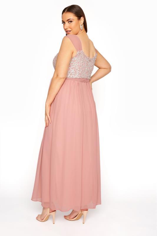 Pink Sleeveless Crochet Overlay Maxi Dress_C.jpg
