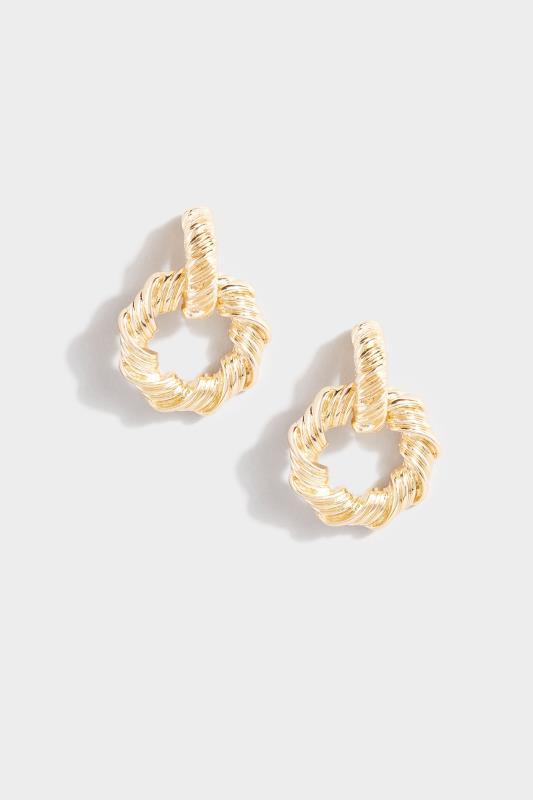 Gold Twisted Textured Door Knocker Earrings_153806.jpg
