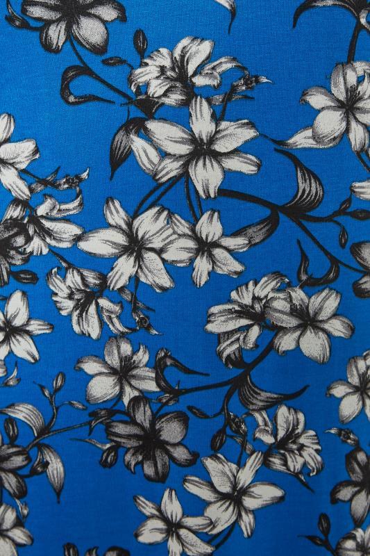 LTS Blue Floral Print V-Neck Midi Dress_S.jpg