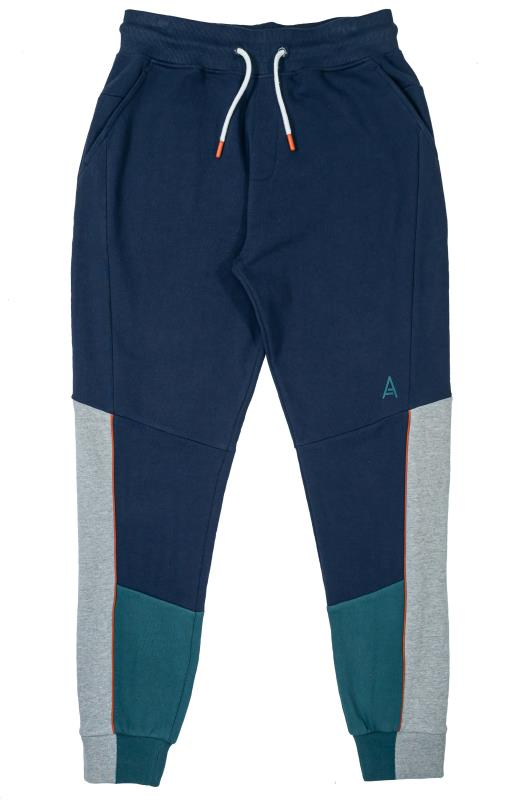 Plus Size  STUDIO A Navy & Blue Colour Block Joggers