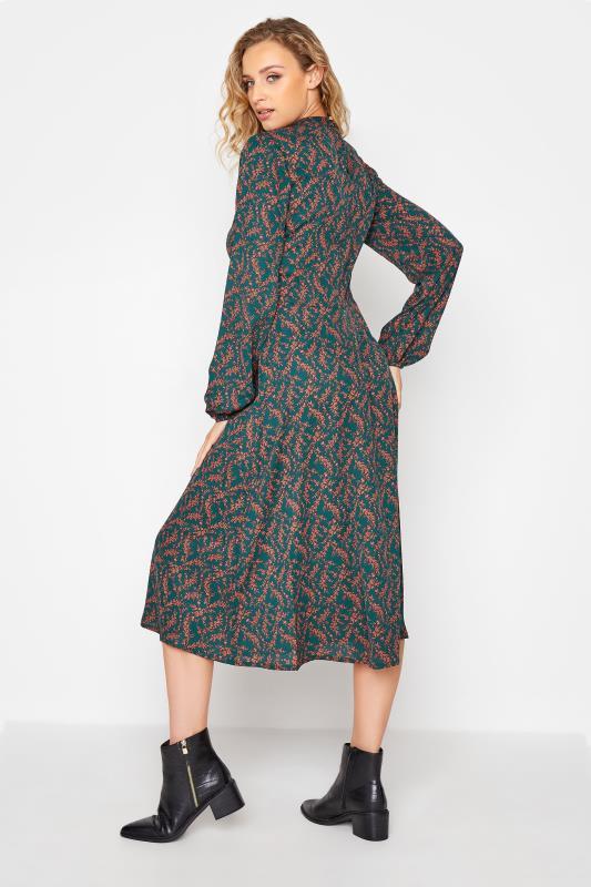 LTS Green Floral Print Fit & Flare Midaxi Dress_C.jpg