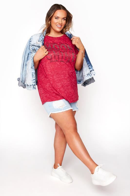 Red 'Moon Shine' Embellished T-Shirt_B.jpg