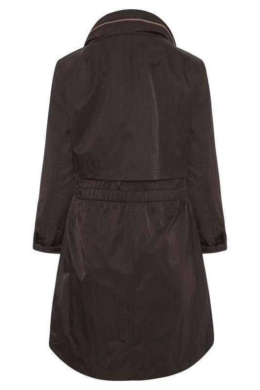 KARL LAGERFELD PARIS Black Crinkle Packable Anorak