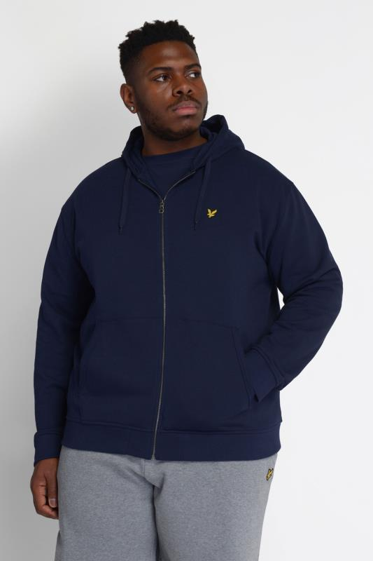 Plus Size  LYLE & SCOTT Navy Zip Through Hoodie