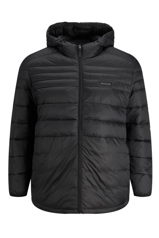 Plus Size  JACK & JONES Black Hooded Puffer Coat