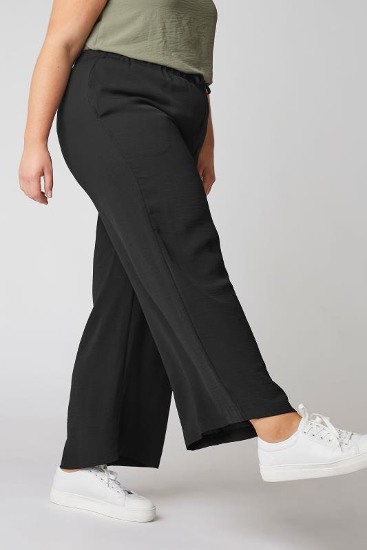 THE LIMITED EDIT Black Wide Leg Trousers_B.jpg