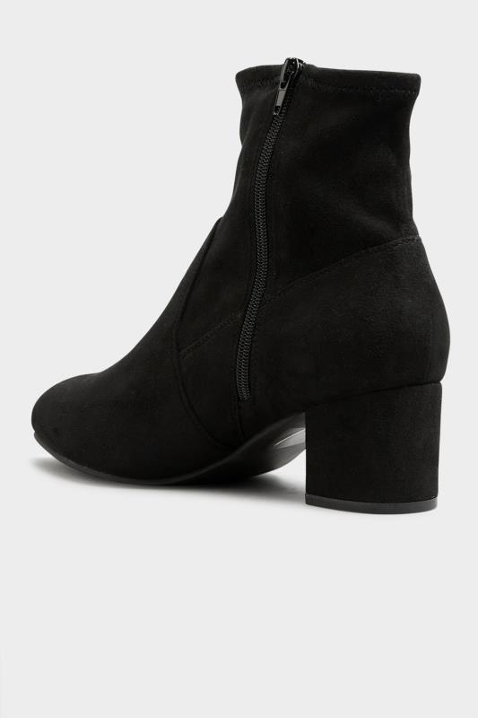 Black Faux Suede Stretch Block Heeled Boots In Extra Wide Fit_D.jpg