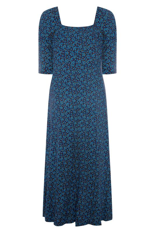 LIMITED COLLECTION Cobalt Blue Ditsy Maxi Dress_F.jpg