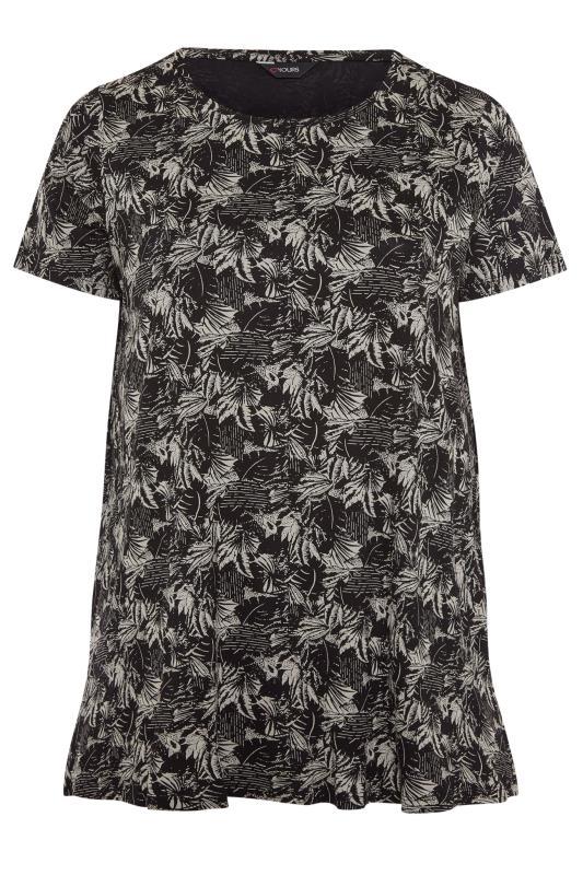 Black Leaf Print T-Shirt_F.jpg