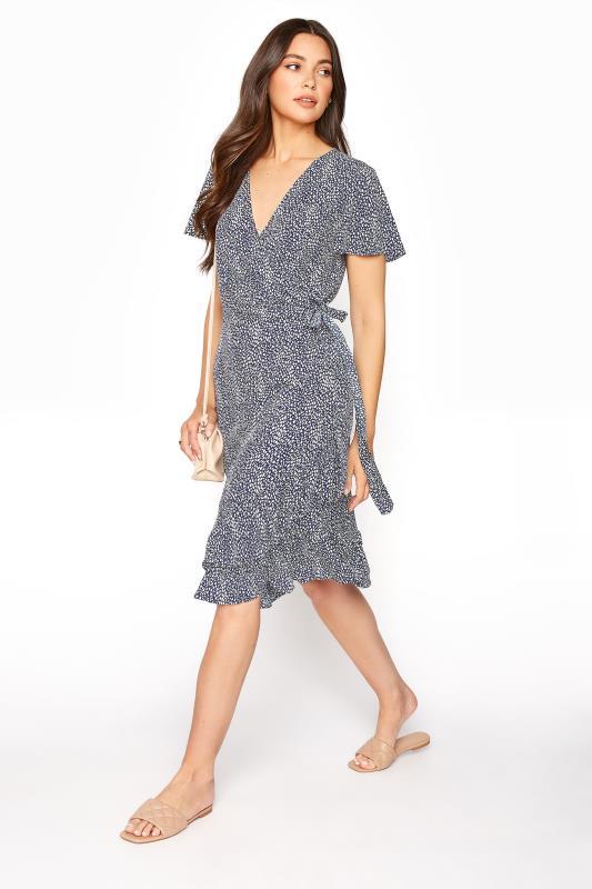 LTS Blue Leopard Print Frill Wrap Dress_B.jpg
