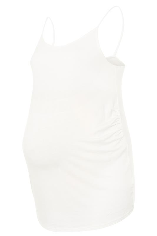 BUMP IT UP MATERNITY White Cami with Secret Support_F.jpg