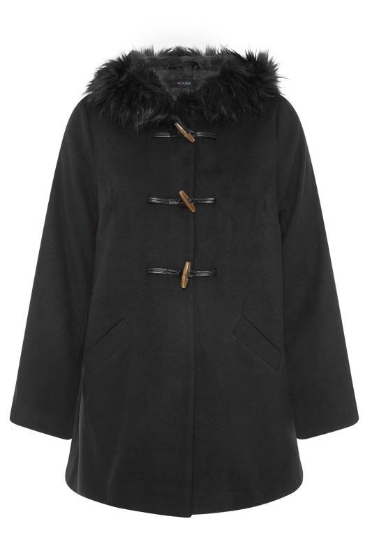 Black Faux Fur Trim Duffle Coat_F.jpg