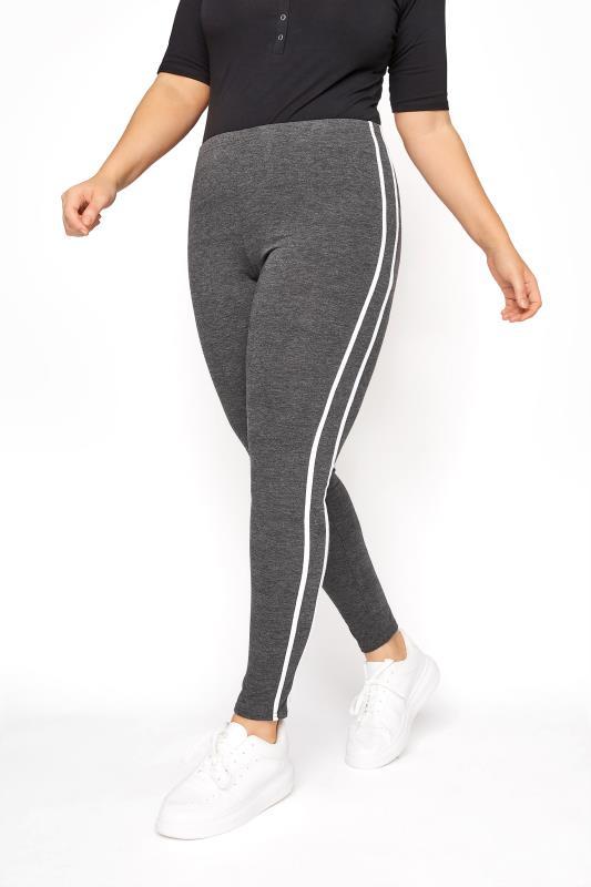 Charcoal Side Stripe Legging