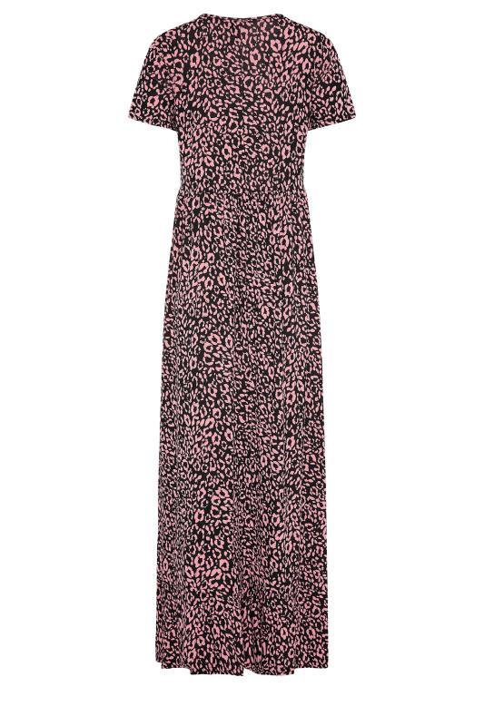 LTS Pink Animal Print Tiered Midaxi Dress_BK.jpg