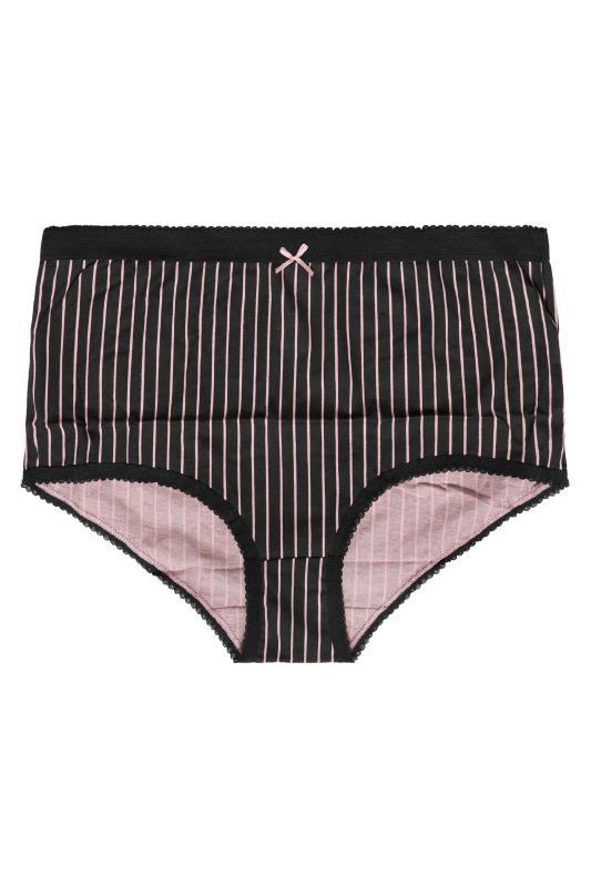 5 PACK Black & Pink Stripe Lace Full Briefs_B.jpg