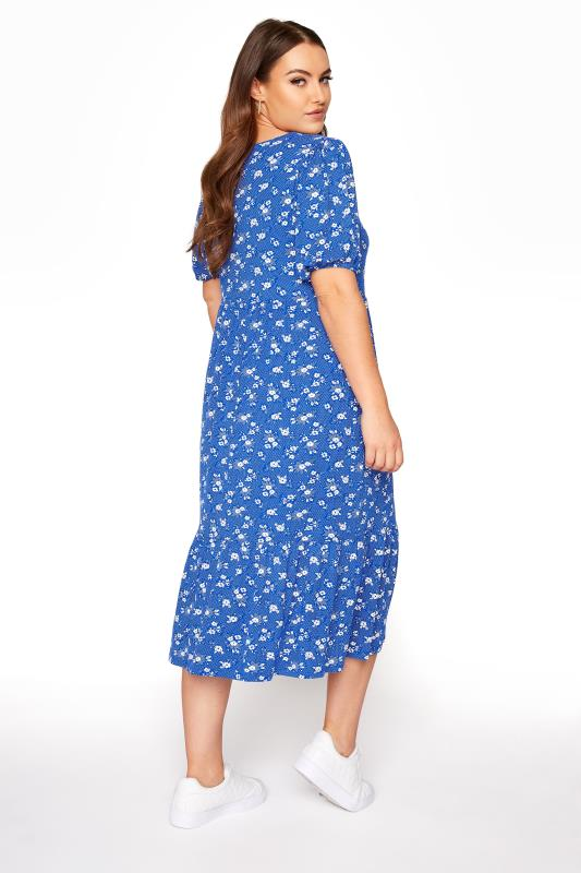 Blue Floral Puff Sleeve Midaxi Dress_C.jpg