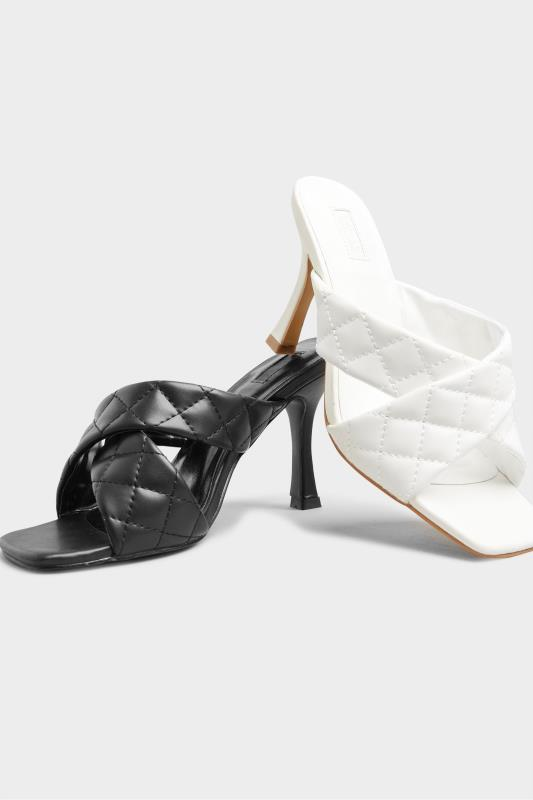 LIMITED COLLECTION White Cross Quilted Stiletto Mules In Extra Wide Fit_E.jpg