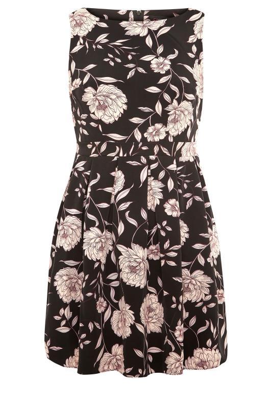 Black Floral Print Skater Midi Dress_F.jpg
